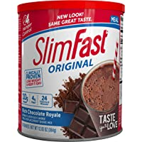 SlimFast Original Rich Chocolate Royale Meal Replacement Shake Mix – Weight Loss Powder – 12.83oz. – 14 servings