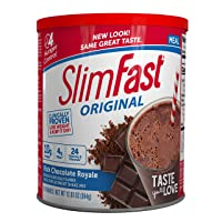 SlimFast Original Rich Chocolate Royale Meal Replacement Shake Mix – Weight Loss...