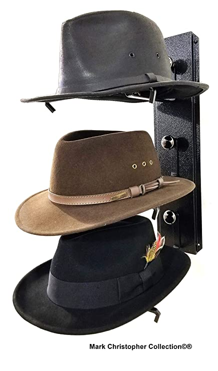 40f098e7e15 Image Unavailable. Image not available for. Color  Mark Christopher  Collection Fedora Hat Rack American Made