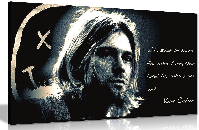 Amazon.de: Kurt Cobain qoute Rather Be gehasst Leinwand Kunstdruck ...
