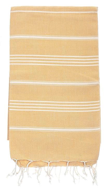 Two Pine Turco toalla – mostaza – Milagro Orgánica algodón turco toalla de baño