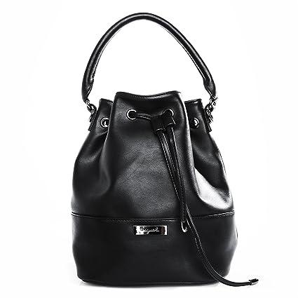 05991a88b5 Bucket Bag MIA Sac à Main Femme Sac bandoulière porté Main et épaule -  Noir: Amazon.fr: Bagages