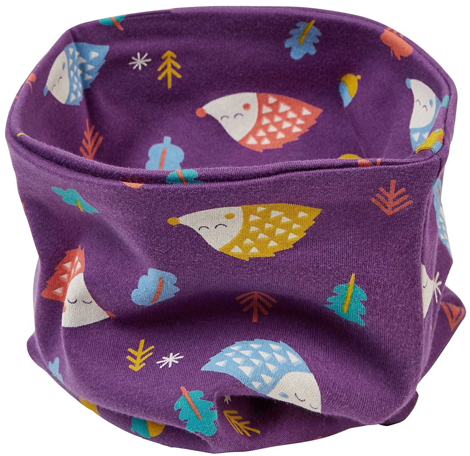 Piccalilly Organic Cotton Unisex Purple Hedgehog Kids Neck Warmer