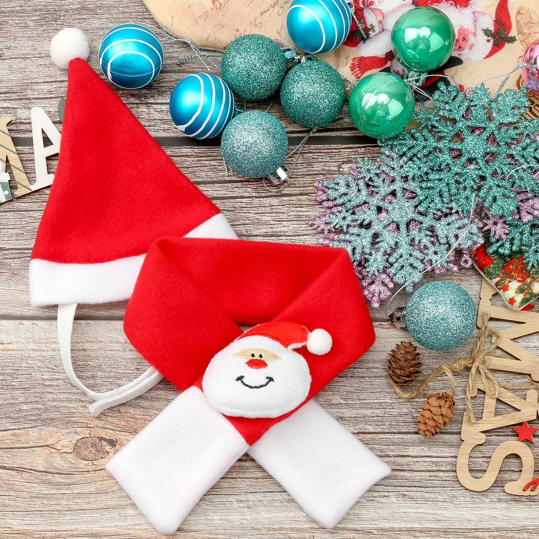 QKURT Disfraz de Pap/á Noel para Mascotas
