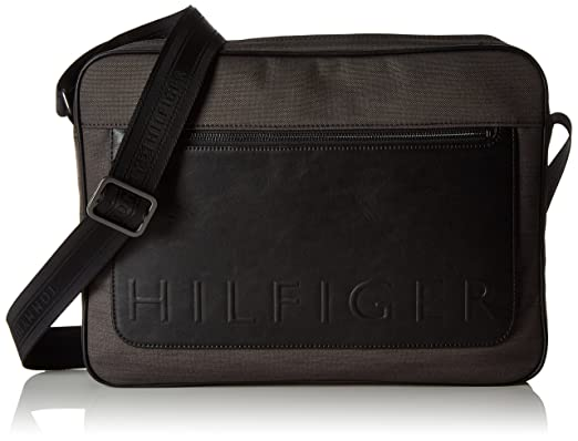 Tommy Hilfiger Mélange De Métropolitaine Messager Slim Bag, Gris