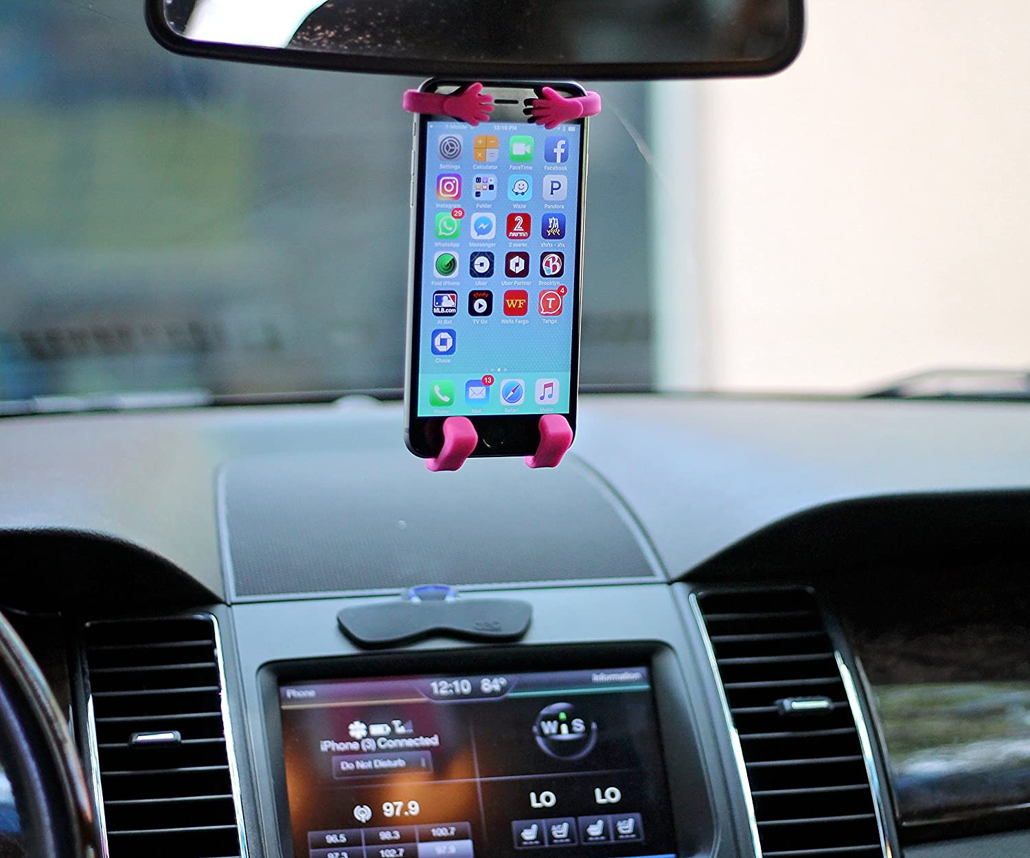 premium selection 8ec89 c107c Bondi Plus Unique Flexible Cell Phone Holder for Car, Made of Silicon, Made  specifically for All Those Larger Smartphones Like The iPhone 6 Plus, ...