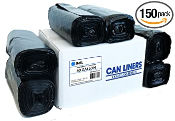 Amazon.com: Reli. Bolsas de basura Easy Grab, 55-60 galones ...