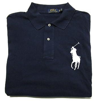 RALPH LAUREN Polo Men\u0027s Big and Tall Big Pony Pique Cotton Polo Shirt  Classic Fit at Amazon Men\u0027s Clothing store: