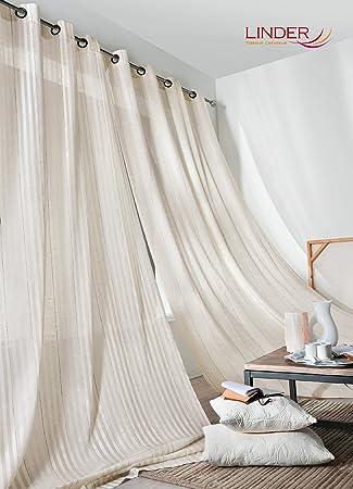 """Unterschiedlich Amazon.de: Gardine """"Tribeca"""" 117429, Leinen, Beige, 150 x 280 cm NL39"""