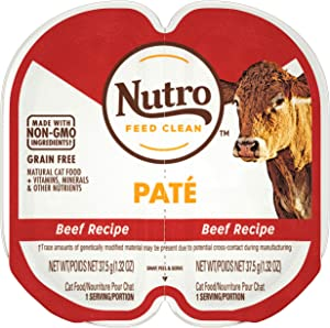 NUTRO Perfect Portions Grain Free Natural Wet Cat Food, Paté