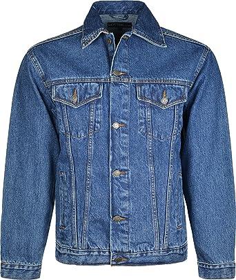 ad5504fb2 Veste en jean à manches longues pour homme avec boutonnage avant ...