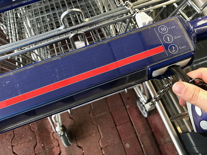Shopping Chip Chariot De Supermarch/é Euro Remplacement R/éutilisable Porte-cl/és