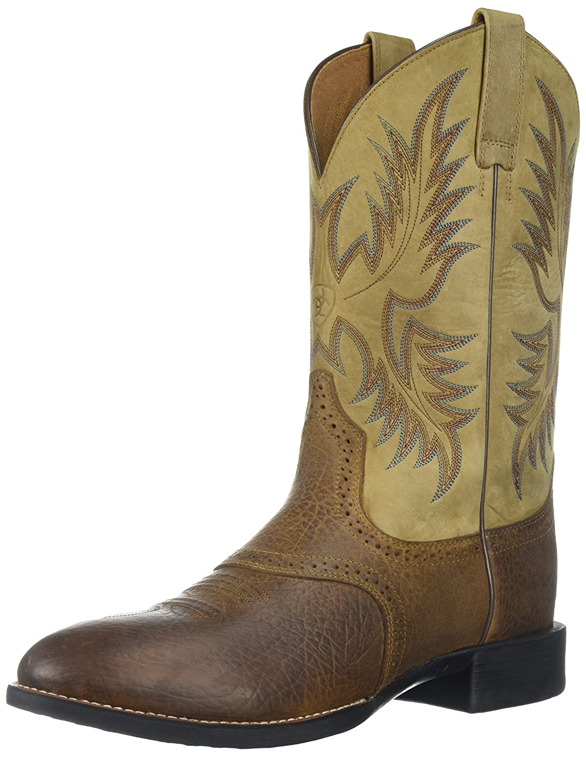 Ariat Men's Heritage Stockman Western Boot B00449ZPR6 10 B US|Tumbled Brown/ Beige