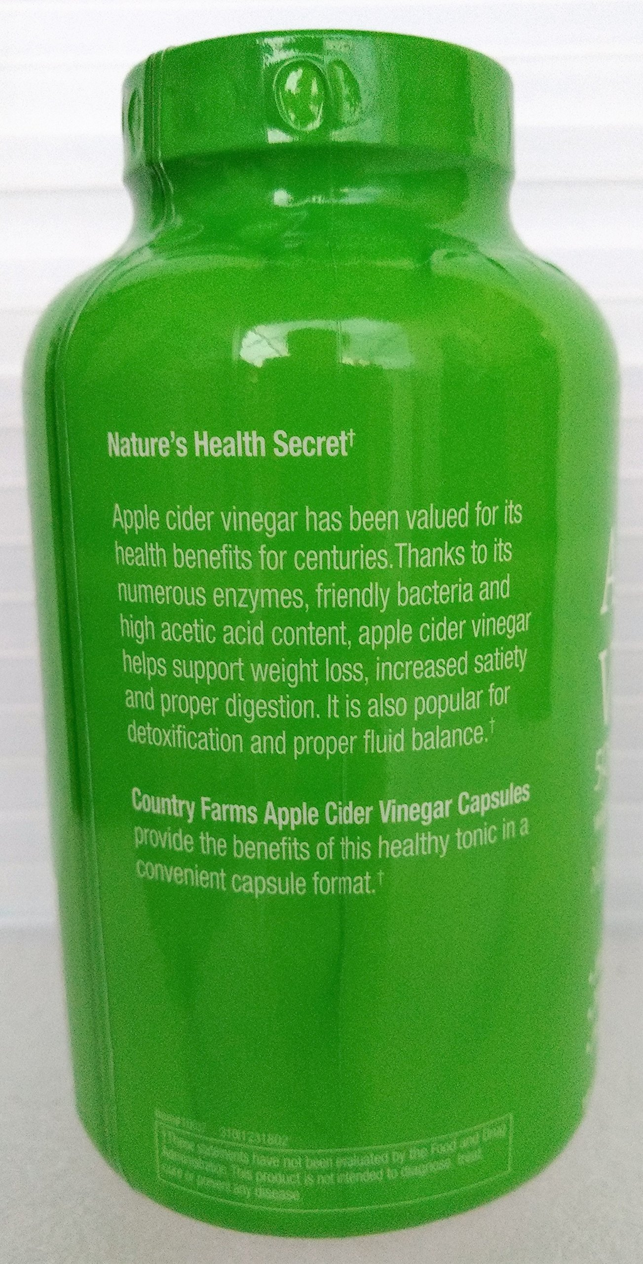 Country Farms Apple Cider Vinegar 500mg 180 capsules with Ginger, Cayenne and Maple by Country Farms (Image #3)