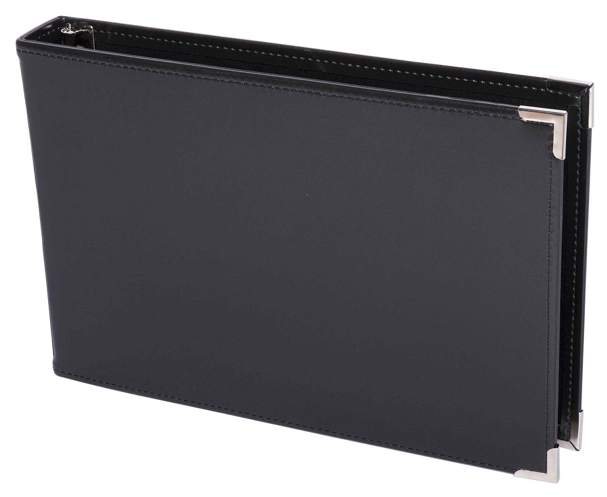 Premium 3UP 7 Ring Business Check Binder w/Zip Pouch (Black)