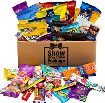 sweet salty college care package with snack gifts best christmas gift for college student