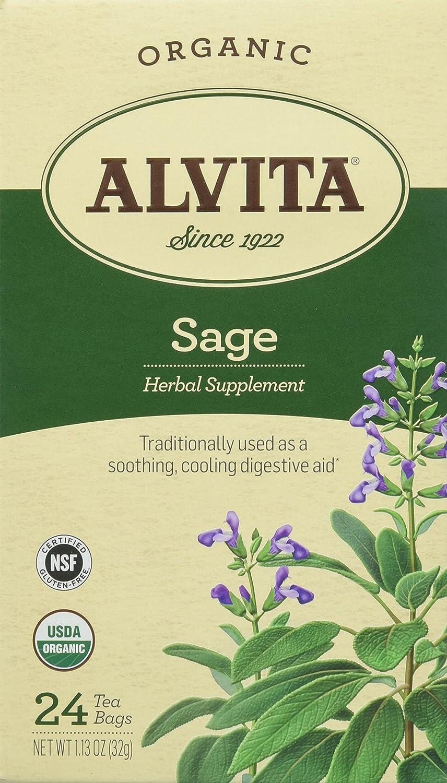 Alvita Sage Tea, Organic, 24 Count (Pack of 3)