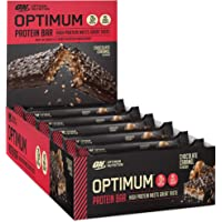 Optimum Protein Bar By Optimum Nutrition 10 X 60g Protein Bars, Chocolate Caramel Flavour with Whey Protein Isolate & No Added Sugar, 10 Bars