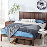 Zinus Adrian Wood Rustic Style Platform Bed with Headboard / No Box Spring Needed / Wood Slat Support, Queen