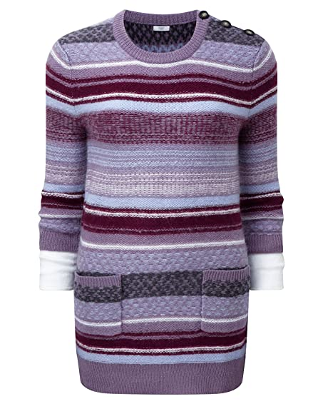 Cotton Traders Womens Ladies 100% Acrylic Fair Isle Mock Sleeve ...