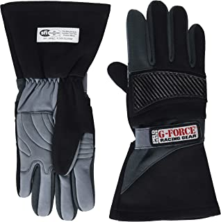 G-Force 4105LRGBK Pro Series Black Large Racing Gloves