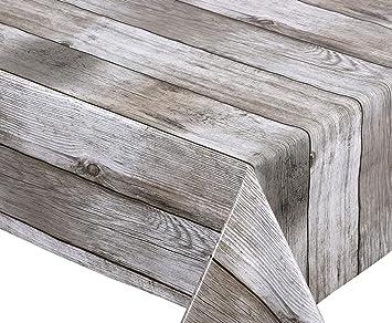 Beautex - Mantel de hule, liso, lavable, redondo, ovalado, rectangular, tamaño a elegir, ideal para jardín, diseño de madera, color beige: Amazon.es: Juguetes y juegos