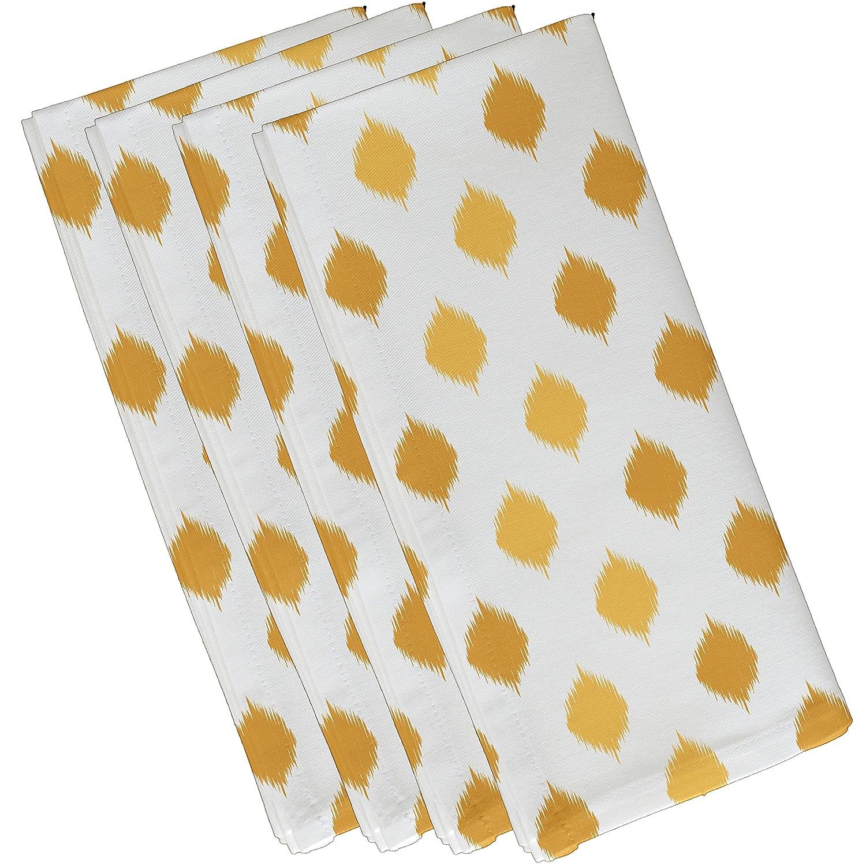 100%本物 E byデザインHanukkah Ikat DotストライプHoliday幾何パターンナプキン – 4のセット 19 19 x – 19