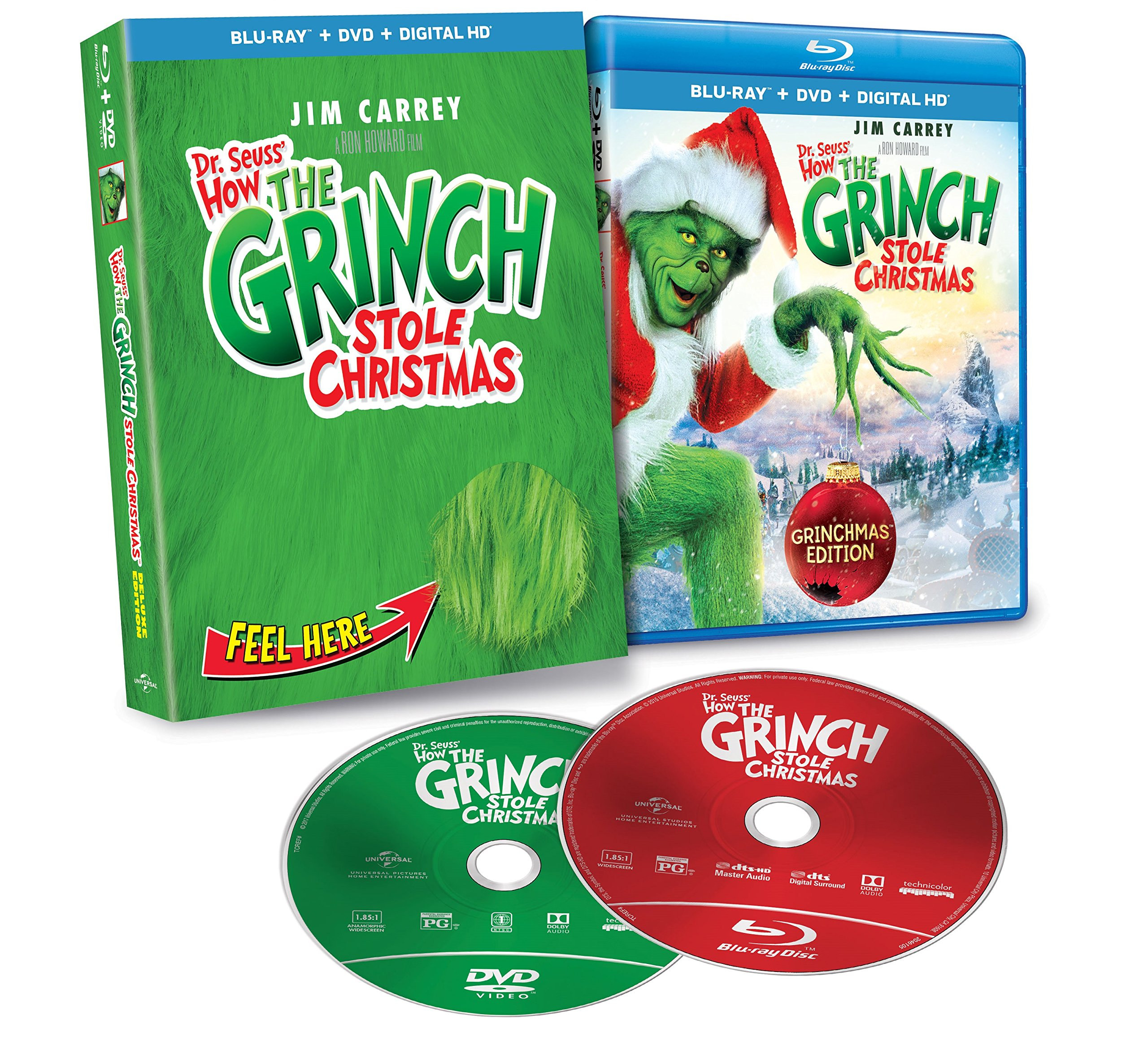 Dr. Seuss\' How The Grinch Stole Christmas [Blu-ray] Jim Carrey ...