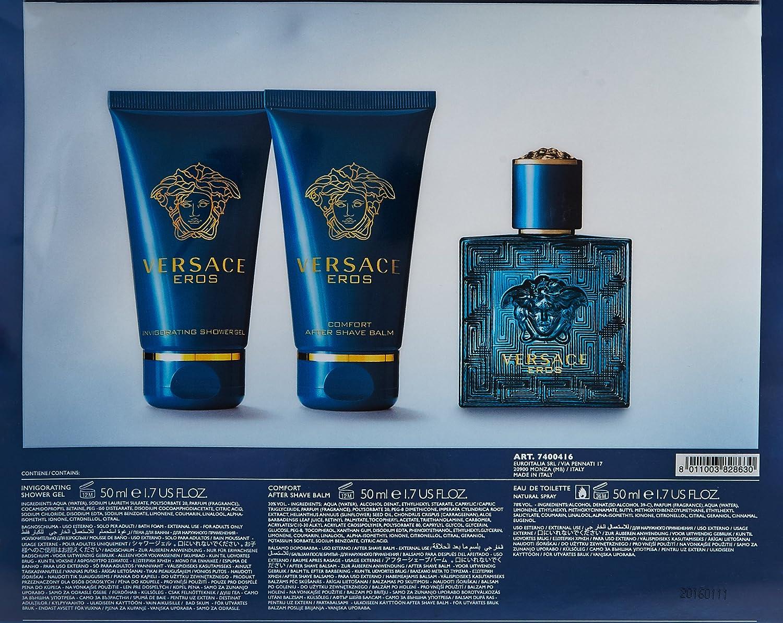 a040e4bce Amazon.com : Versace Eros Eau de Toilette Spray for Men, 3.4 Ounce : Eros  By Versace For Men : Beauty