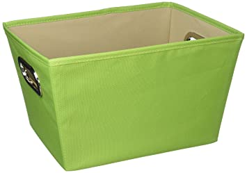 Honey-Can-Do Decorative Storage Bin with Chrome Handles Large Lime Green  sc 1 st  Amazon.com & Amazon.com: Honey-Can-Do Decorative Storage Bin with Chrome Handles ...