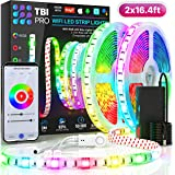 TBI Pro LED Strip Lights 32.8ft - Indoor Outdoor RGB Led Strip Lights with Waterproof Color Changing Super-Bright 5050…