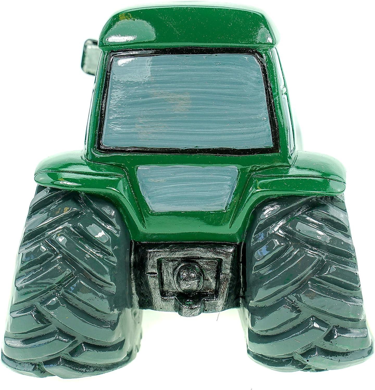 /qualsiasi nome//messaggio sul vostro veicolo Unique/ Regalo personalizzato//–/verde trattore salvadanaio, motivo: trasporto, bianco /driver Heavy Truck Farm Hgv contadino /