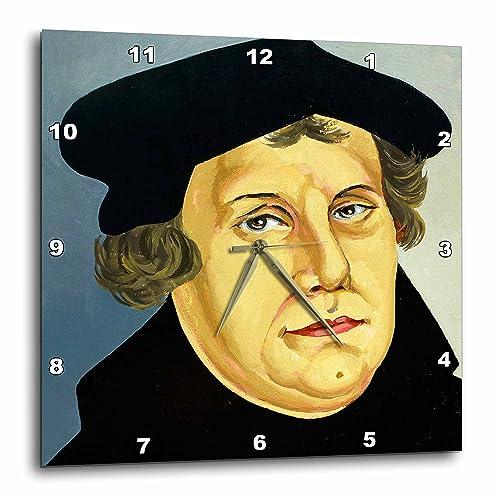 3dRose DPP_83116_2 Martin Luther, German Reformer, Engraving HI13 PRI0278 Prisma Wall Clock, 13 by 13