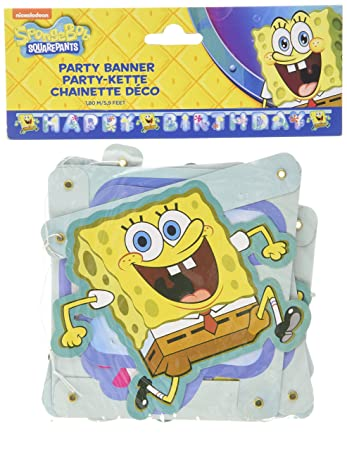 Amazon.com: Amscan International Bob Esponja feliz ...
