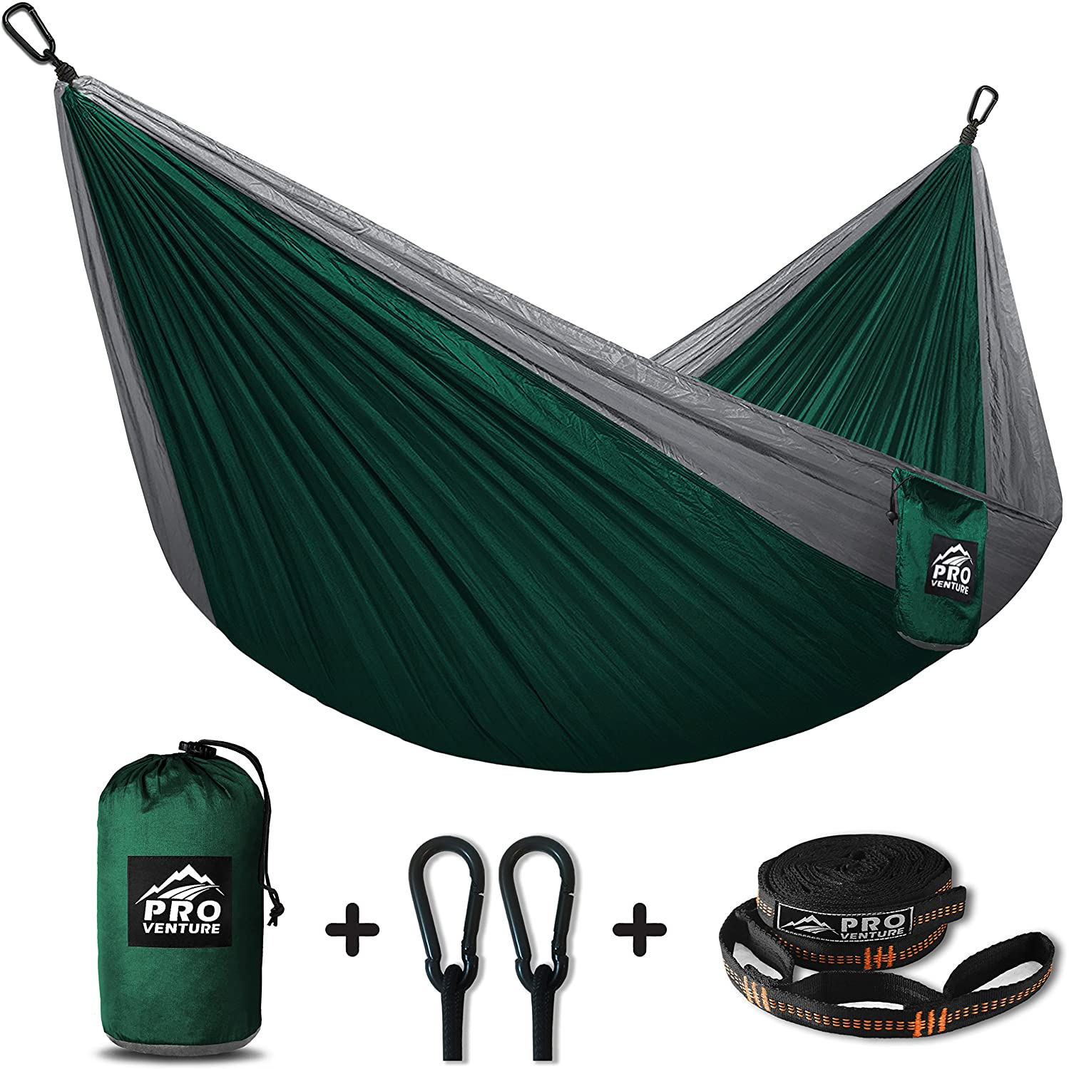 Proventure Camping Hammock /& FREE Tree Straps Lightweight and Compact For Backpacking Travel Back Yard the Beach or Any Adventure!