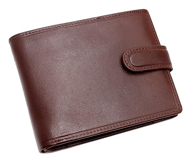 Topsum London Bloqueo RFID Cartera De Cuero Curtida Vegetal De Lujo Para Hombre Con Tarjeta De Crédito, Tarjeta De Identificación Y Bolsillo Para Monedas ...