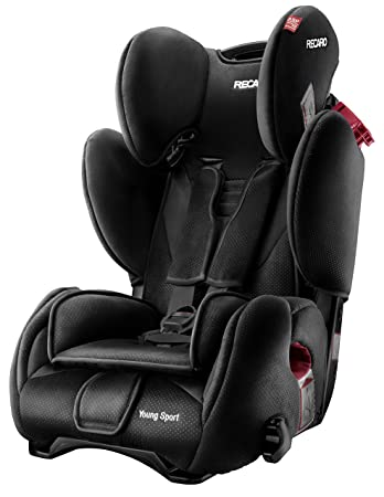 RECARO Young Sport Group 1/2/3 Combination Car Seat (Black)