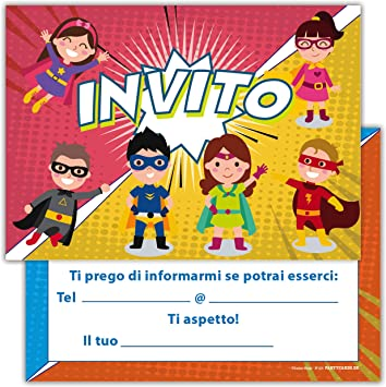 Favorito Partycards Set di 12 inviti Compleanno Biglietti invito per Festa RL83