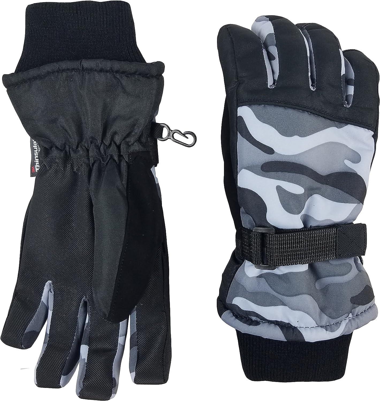 NICE CAPS Mens Thinsulate Waterproof Premium Winter Ski Snow Snowboard Gloves