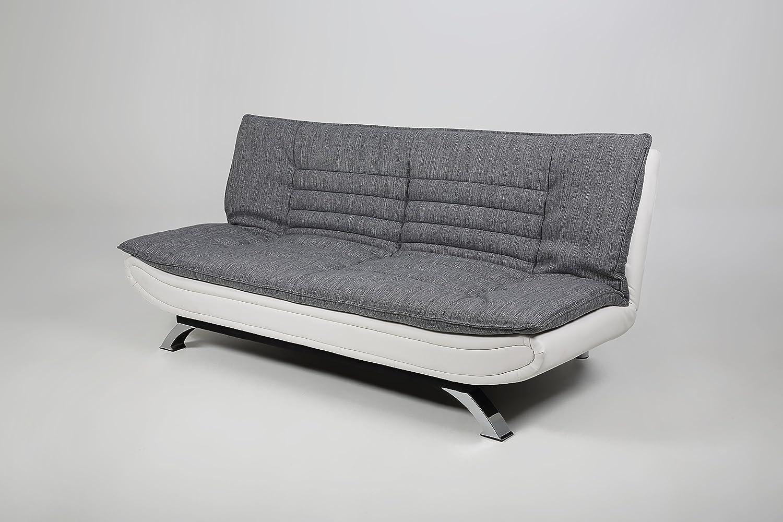 Stoff Grau AC Design Furniture Bettcouch Jasper B: 196 x T:98 x H: 91 cm