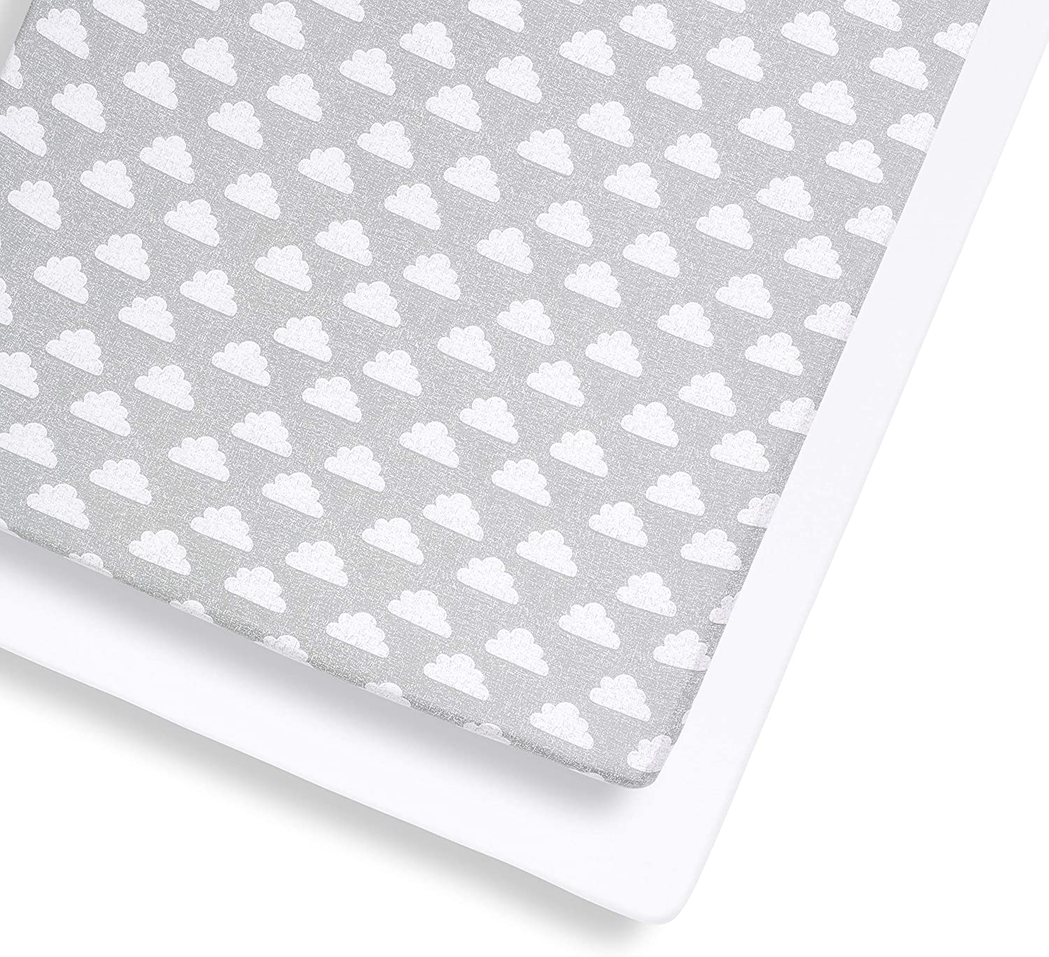 Cloud Snuz Cot and Cot Bed Fitted Sheet BD028CH Grey//White 390 g