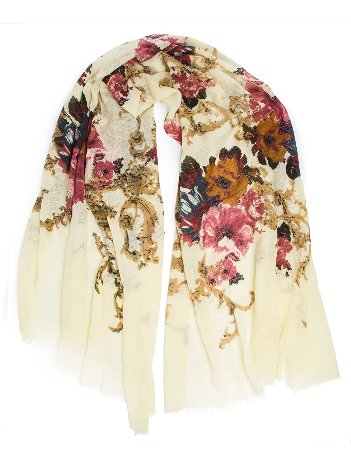 1920s Shawls, Scarves and Evening Jacket Tips Eleanor blanket scarf oversized winter scarf floral scarf $26.95 AT vintagedancer.com