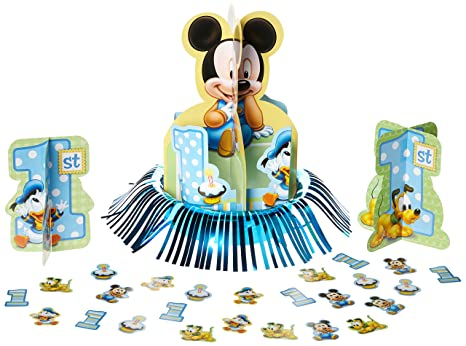 Image Unavailable Not Available For Color Mickey Mouse 1st Birthday Table Decorating Kit Centerpiece