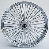 Ultima King Spoke Tubeless Chrome Front Dual Discs Wheel 21x3.5 for 00+ Harley 37-542