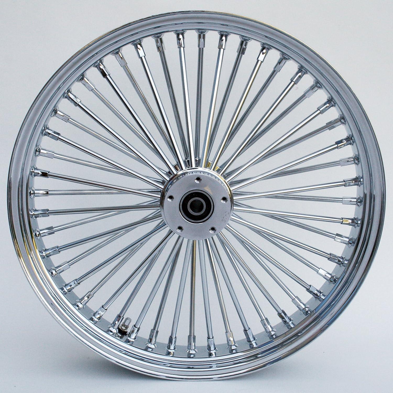 Amazon.com: Ultima King Spoke Tubeless Chrome Front Dual Discs Wheel ...