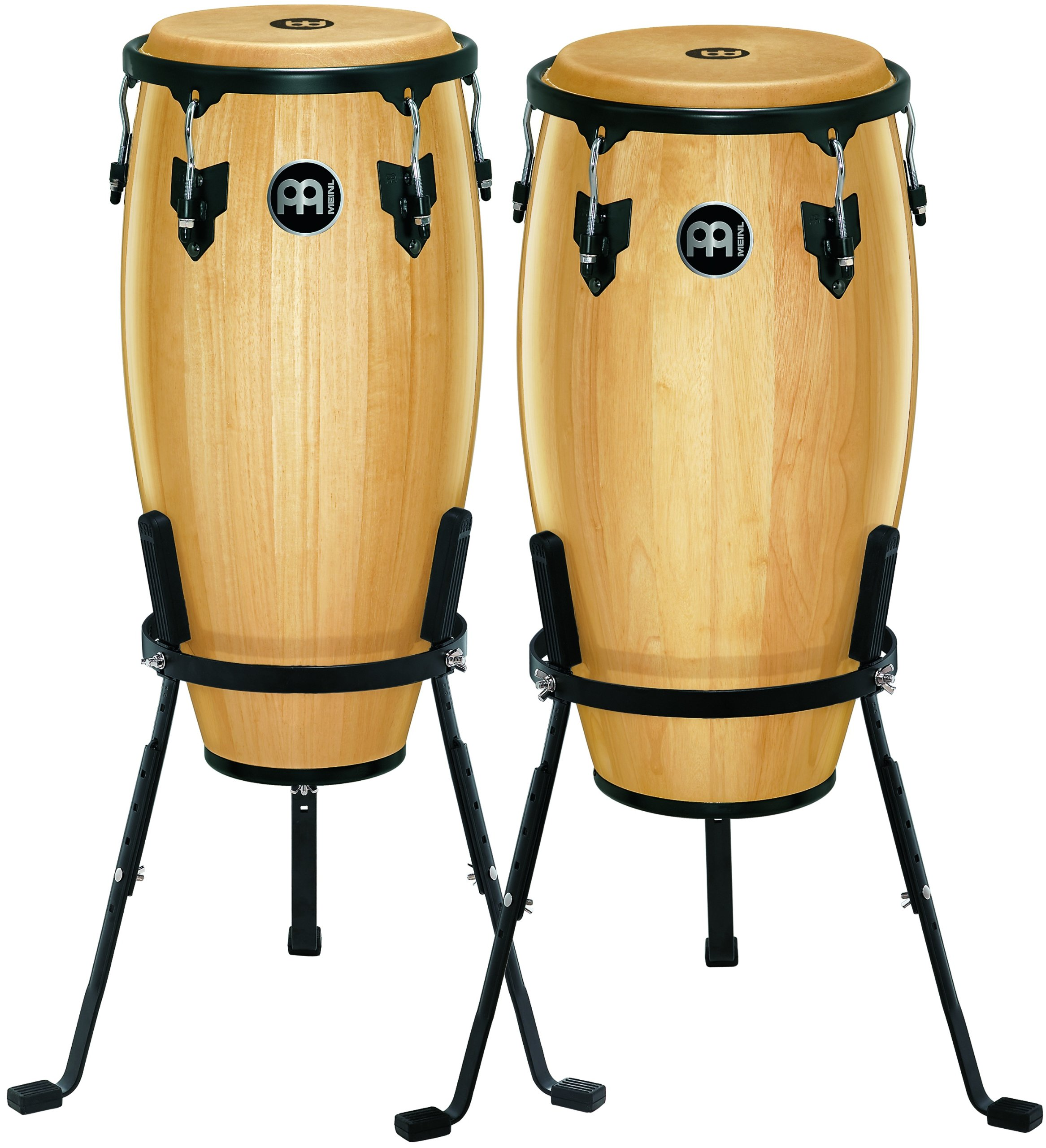 Meinl Percussion HC512NT Headliner Series 11-Inch and 12-Inch Conga Set With Basket Stands, Natural by Meinl Percussion