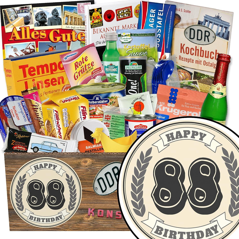 88. Geburtstagsgeschenk | Spezial Geschenk | Geschenk Box | INKL. Markenbuch | Ossi Produkte