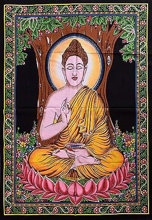 amazon co jp indian lord buddha壁ポスターヨガマットsmall
