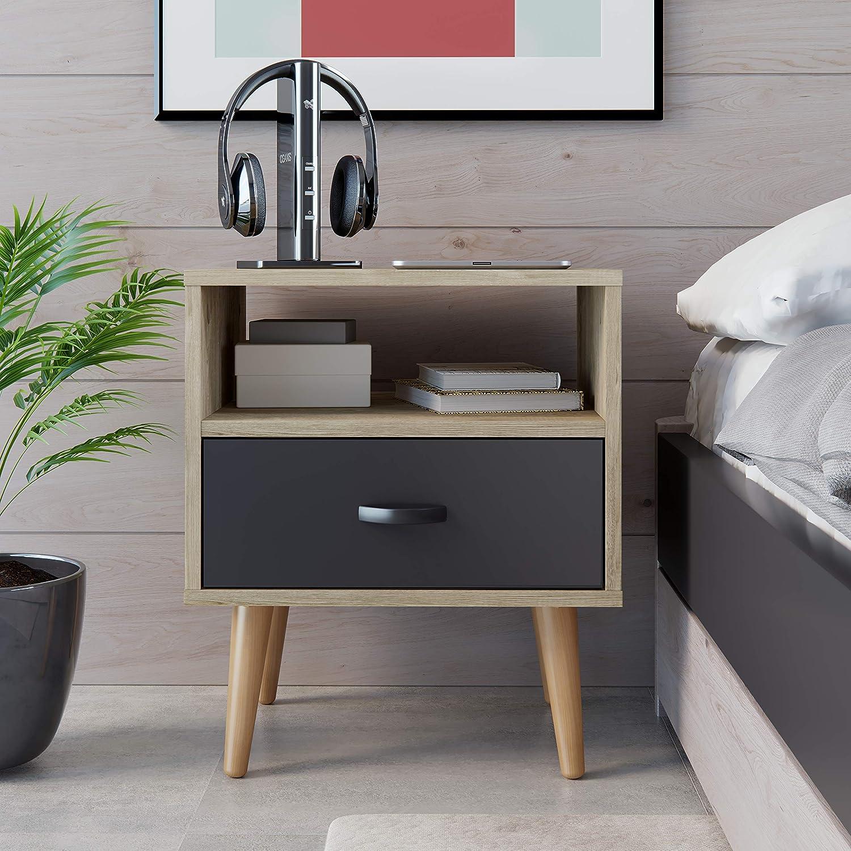 colore marrone Basics 48 x 38 x 50 cm Comodino
