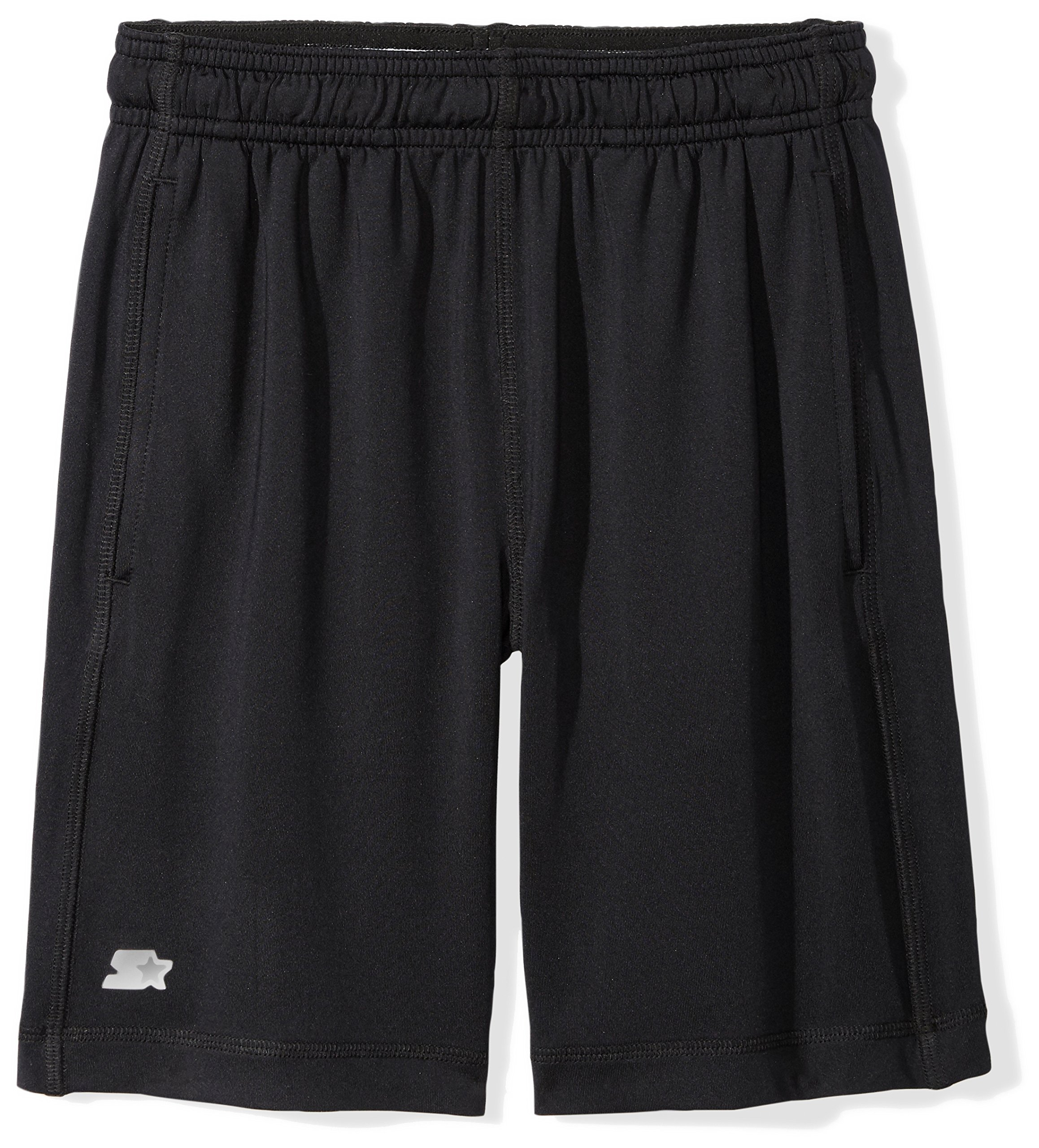 Starter Boys' 8'' Stretch Training Short with Pockets, Prime Exclusive, Black, M (8/10)